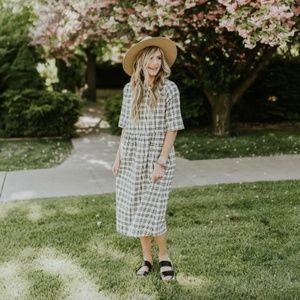 Cordele Plaid Mini Dress
